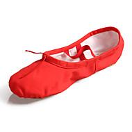 billiga Dansskor-Dam Balettskor Kanvas Platta Platt klack Går att specialbeställas Dansskor Röd / Rosa / Mandel / Inomhus / Prestanda / Träning