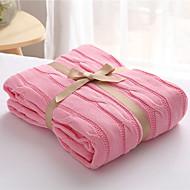 Strick,Einfarbig Massiv 100% Baumwolle Decken