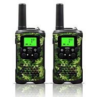 armygreen og camo for barn walkie talkies 22 kanaler og (opp til 10km i åpne områder) armygreen og camo walkie talkie for barn (1 par) T48