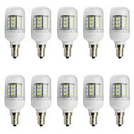 4W E26/E27 LED-kornpærer T 27 SMD 5730 280 lm Varm hvit Kjølig hvit Dekorativ V 10 stk.