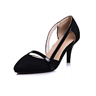 olcso -Női Cipő Gyapjú Tavasz Nyár Kényelmes Magassarkúak Stiletto Erősített lábujj Lyukacsos Kompatibilitás Ruha Fekete Sötétkék Burgundi vörös