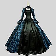 Gótica Princesa Mulheres Uma Peça Vestidos Cosplay Manga Longa