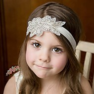 cheap Kids' Accessories-Girls' Boys' Hair Accessories, All Seasons Cotton Lace Headbands - White Blushing Pink Beige Gray