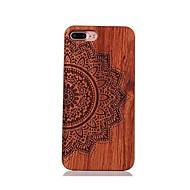 のために 耐衝撃 エンボス加工 パターン ケース バックカバー ケース 曼荼羅 ハード ウッド のために Apple iPhone 7プラス iPhone 7 iPhone 6s Plus/6 Plus iPhone 6s/6 iPhone SE/5s/5