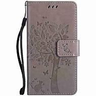billiga Mobil cases & Skärmskydd-fodral Till Nokia Lumia 635 Nokia Lumia 950 Nokia Lumia 640 Nokia Korthållare Plånbok med stativ Läderplastik Fodral Träd Hårt PU läder