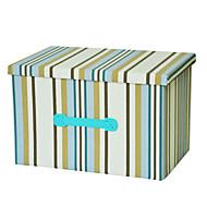 raylinedo® 39l vêtements boîte de rangement en toile pliable organisateur couverture placard pull boîte maison docor à rayures bleues