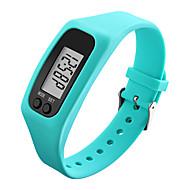 billige Sportsur-Herre Dame Sportsur Armbåndsur Digital Watch Digital Skridttællere LCD Sej Gummi Bånd Digital Sort / Hvid / Blåt - Rød Grøn Blå / Farverig