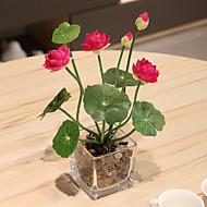 billige Kunstige blomster-1 Gren Plastikk Bordblomst Kunstige blomster