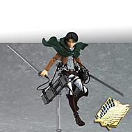 Las figuras de acción del anime Inspirado por Attack on Titan Mikasa Ackermann CLORURO DE POLIVINILO 14 cm CM Juegos de construcción muñeca de juguete Hombre