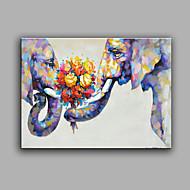 מצויר ביד מופשט בעלי חיים מאוזן,מודרני פנל אחד בד ציור שמן צבוע-Hang For קישוט הבית