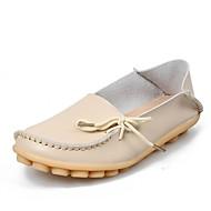 baratos Sapatos Femininos-Unisexo Sapatos Couro Primavera / Verão / Outono Conforto Rasos Caminhada Sem Salto Ponta Redonda Cadarço Rosa claro / Azul marinho / Azul Claro