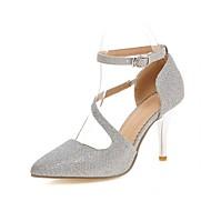 Mujer Zapatos Ante Verano D'Orsay y Dos Piezas Tacones Paseo Tacón Stiletto Dedo Puntiagudo Perla de Imitación / Encaje Cosido Rojo / OSHsRZe7X6