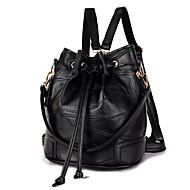 女性 バッグ オールシーズン シープスキン バックパック のために カジュアル ブラック