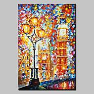 billiga Oljemålningar-HANDMÅLAD Landskap Abstrakta landskap olje,Moderna Europeisk Stil En panel Kanvas Hang målad oljemålning For Hem-dekoration