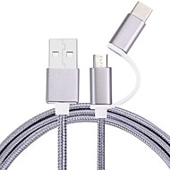 cheap -Micro USB 2.0 USB 2.0 Type-C USB Cable Adapter Braided Cable For Samsung Huawei LG Nokia Lenovo Motorola Xiaomi HTC Sony 100 cm Nylon