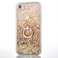 Til iPhone 8 iPhone 8 Plus iPhone 7 iPhone 7 Plus iPhone 6 Etuier Flydende væske Ringholder Bagcover Etui Glitterskin Hårdt PC for Apple