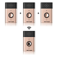 Wireless voice intercom door-bell ABS Campainha não-visual Sem Fios Sistemas de campainha