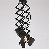 vintage loft spot light industriell anheng lys svart spotlights klær butikk taklampe