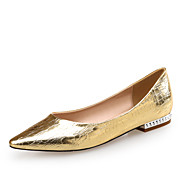 Women's Flats Comfort Novelty PU Leather Office & Career Party & Evening Dress Casual Flat Heel  Silver Rose Gold