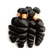 Toptan brazilian gevşek dalga bakire saç 5bundles 500g çok 10a kalite iyi kalite doğal siyah renk brazilian insan saçı örgü demetleri