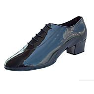 billige Men's Dance Shoes-Herre Sko til latindans / Jazz-sko / Dansesko Kunstlær Flate / Sandaler / Høye hæler Lav hæl Kan spesialtilpasses Dansesko Svart / Ytelse