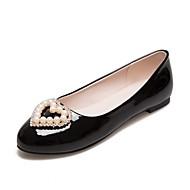 Feminino Sapatos Sintético Courino Couro Ecológico Primavera Verão Outono Inverno Conforto Inovador Rasos Caminhada Rasteiro Ponta Redonda