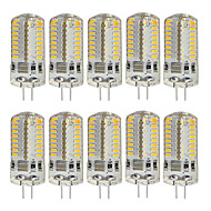 billige Bi-pin lamper med LED-10pcs 3W 260 lm G4 LED-lamper med G-sokkel T 64 leds SMD 3014 Dekorativ Varm hvit Kjølig hvit AC220 AC 85-265V