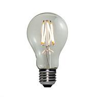 billige Globepærer med LED-E27 LED-globepærer A60(A19) 4 COB 360 lm Varm hvit Mulighet for demping AC 220-240 V 1 stk.