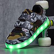 운동화-야외 캐쥬얼 운동-남아 신발-컴포트 신발에 불-튤-낮은 굽-블랙 화이트 그린 / 블루