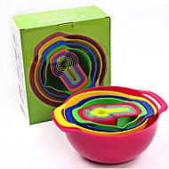 baratos Ferramentas de Medição-Utensílios de cozinha Plástico Gadget de Cozinha Criativa Cesto de frutas Para utensílios de cozinha 10pçs
