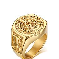 Per uomo Anello di dichiarazione - Placcato in oro Amore Donne, Personalizzato Gioielli Dorato Per Matrimonio Feste Anniversario Compleanno Regalo Quotidiano 9 / 10 / 11 / 12