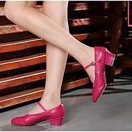 billige Moderne sko-Dame Ballettsko Kunstlær Hel såle Flat hæl Kan spesialtilpasses Dansesko Sølv / Rød / Rosa / Innendørs