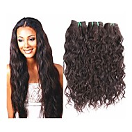 10a grade brazilian virgin hair natural wave style 3pieces 300g lot for one head full bundles hair unprocessed brazilian human hair weaves black color