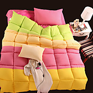 Yuxin®Spring and Autumn Quilt Four Fight Color Feather Velvet Super Soft Thick Thick Winter Quilt   Bedding Set