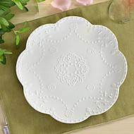 アイボリー白磁器中国セラミッククリーム白夕食コンビセット