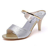 Women's Shoes PU Spring Comfort Sandals Flat Heel For Casual Gold Black Silver Purple