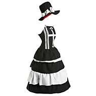 Inspired by One Piece Perona Anime Cosplay Costumes Cosplay Suits / Dresses Vintage Sleeveless Dress / Hat For Women's