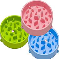 ネコ 犬 フィーダ ペット用 ボウル&摂食 防水 携帯用 両面 グリーン ブルー ピンク プラスチック