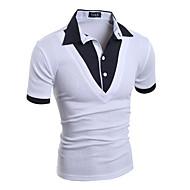 Masculino Camiseta Casual Bandagem Esportivo Simples Moda de Rua Punk & Góticas Todas as Estações,Sólido Branco Preto CinzaAlgodão