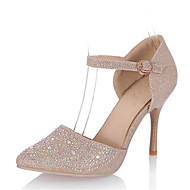 baratos Sapatos de Tamanho Pequeno-Mulheres Sapatos Materiais Customizados Gliter Primavera Verão Outono Sapatos clube D'Orsay Saltos Salto Agulha Dedo Apontado Pedrarias