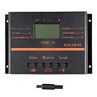 80a lcd controlador de carga solar carregador PWM solar80 painel solar y-solares