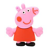 borracha Paige porco cor de rosa flash drive USB 2.0 disco de 32GB
