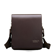 Men Bags All Seasons PU Shoulder Bag for Casual Formal Outdoor Office & Career Professioanl Use Black Brown