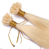 Hot Selling Fusion Pre-bonded U Tip Keratin Hair Extension 1g/strand Nail Hair Extensions 100s/lot Color #613 U Tip Human Hair