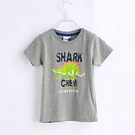 Dreng T-shirt Afslappet/Hverdag Dyremønster,Bomuld Sommer Kortærmet