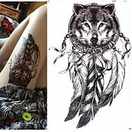 1 Tatouages Autocollants Séries animales Séries de totem Imperméable 3DHomme Femme Adolescent Tatouage Temporaire Tatouages temporaires