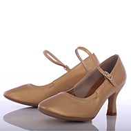 billige Moderne sko-Dame Moderne sko Kunstlær Høye hæler Kustomisert hæl Kan spesialtilpasses Dansesko Brun