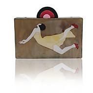 baratos Clutches & Bolsas de Noite-Mulheres Bolsas Plástico Bolsa de Festa para Festa / Eventos Marron