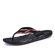 baratos Sapatos Masculinos-Homens Couro / Microfibra Verão Conforto Chinelos e flip-flops Preto / Marron