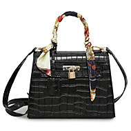 Women Bags All Seasons PU Tote for Event/Party Casual Formal Office & Career Black Clover Black/White